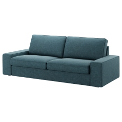KIVIK Three-seat sofa, HILLARED dark blue