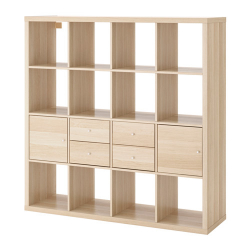 KALLAX Shelving unit with 4 inserts