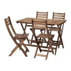 ASKHOLMEN Mesa+4 sillas, exterior
