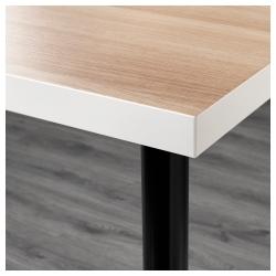 LINNMON/ADILS Mesa de escritorio 150x75 cm blanco efecto roble/negro