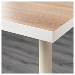 LINNMON/ADILS Mesa de escritorio 150x75 cm blanco efecto roble/beige
