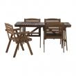 FALHOLMEN Mesa+4 sillas reposabrazos, exterior