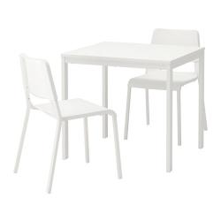 VANGSTA/TEODORES Mesa y dos sillas