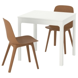 EKEDALEN/ODGER Mesa y 2 sillas