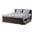 BRUSALI Armazón cama+2 cajas almacenaje