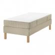 ESPEVÄR Base de cama con tablilla + patas + colchon Twin