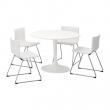 DOCKSTA/BERNHARD Mesa con 4 sillas
