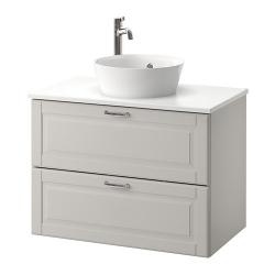 GODMORGON/TOLKEN/KATTEVIK Armario con encimera+lavamanos 15¾