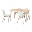 LISABO/SVENBERTIL Mesa con 4 sillas