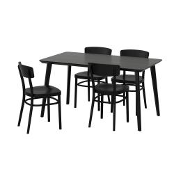 LISABO/IDOLF Mesa con 4 sillas