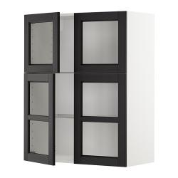 METOD Armario de pared baldas y puertas
