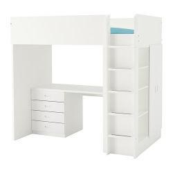 STUVA/FRITIDS Comb cama alta+4gavetas/2puertas
