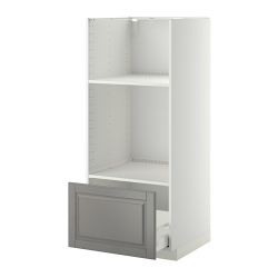 METOD Armario alto horno microondas cajón