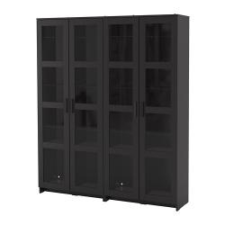 BRIMNES Comb almacenaje+puertas vidrio