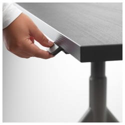 IDÅSEN Escritorio profesional sentado/de pie 120x70 cm negro/gris