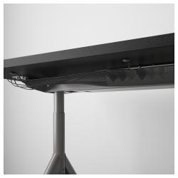 IDÅSEN Escritorio profesional 120x70 cm negro/gris