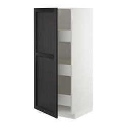 METOD Armario alto con puerta y cajones