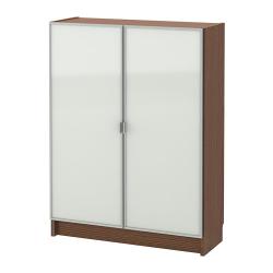 BILLY/MORLIDEN Librero con puertas de vidrio