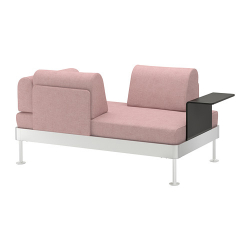 DELAKTIG Sofá de 2 plazas+mesa auxiliar