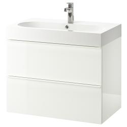 GODMORGON/BRÅVIKEN Armario para lavamanos+2 gavetas