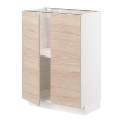 METOD Armario bajo cocina puertas baldas