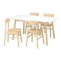 VEDBO/RÖNNINGE Mesa con 4 sillas
