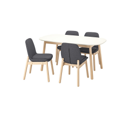 VEDBO/VEDBO Mesa con 4 sillas