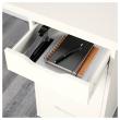 LINNMON/ALEX Mesa de escritorio 200x60 cm con dos cajoneras blanco