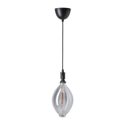 ROLLSBO/SEKOND Pendant lamp with light bulb