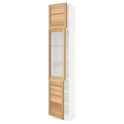 SEKTION High cabinet w glass door/2 doors