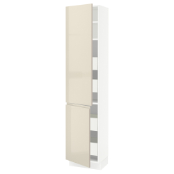 SEKTION/MAXIMERA Arm alto+2puertas/estantes/4cajones