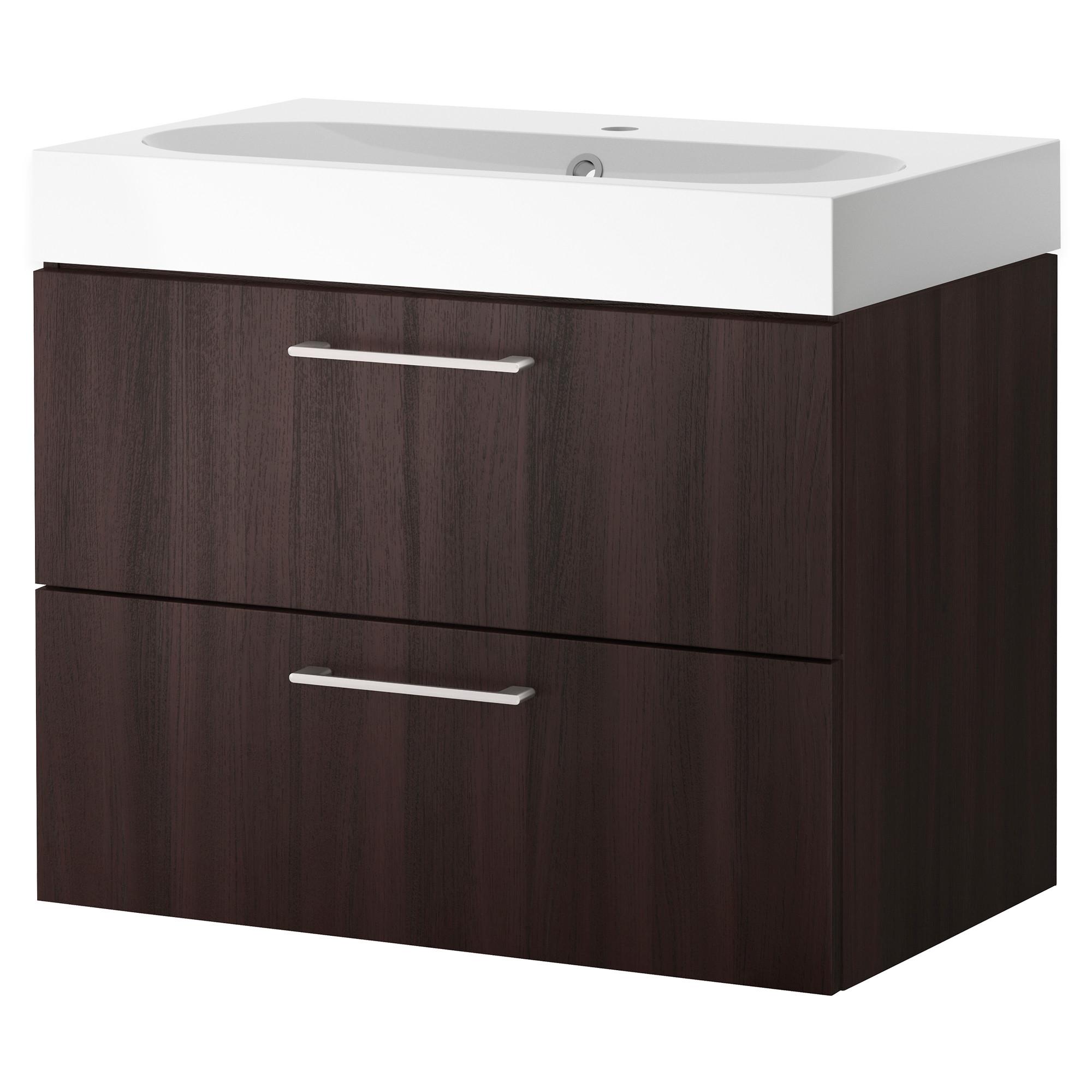 Godmorgon braviken armario lavabo 2 cajones 80cm - Armario lavabo ikea ...