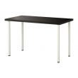 LINNMON/ADILS Mesa de escritorio 120x60 cm negro-marrón/blanco