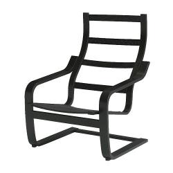 1 x POÄNG Estructura de sillón negro-marrón