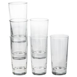 GODIS Juego de 6 vasos de vidrio liso, 40cl