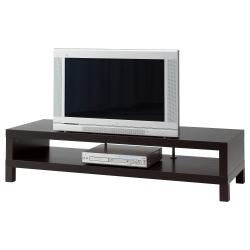 LACK Mueble TV, negro-marrón