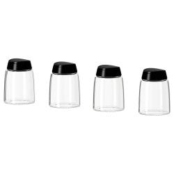 IKEA 365+ IHÄRDIG Recipiente vidrio para especias, 4 unds.