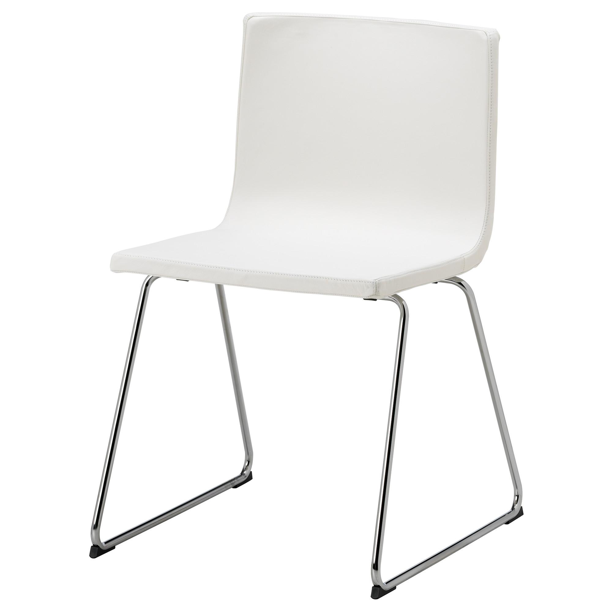 Bernhard silla piel cromado kavat blanco - Sillas de exterior ikea ...