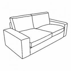 1 x KIVIK Two-seat sofa frame