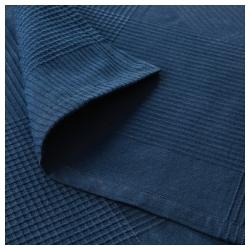 INDIRA Colcha para cama individual 150x250 cm azul oscuro