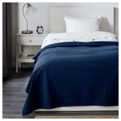 INDIRA Colcha cama doble azul oscuro
