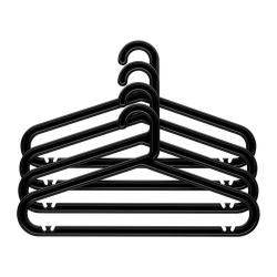 BAGIS Gancho plástico para ropa, negro 4 unds.