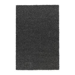 ALHEDE Alfombra, pelo largo 160x240 negro