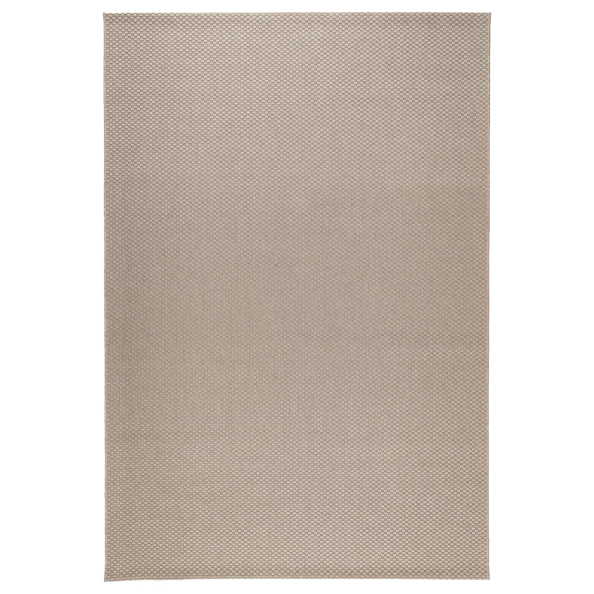 Morum alfombra lisa 160x230 beige for Alfombras exterior ikea