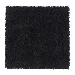HAMPEN Alfombra, pelo largo 80x80 negro
