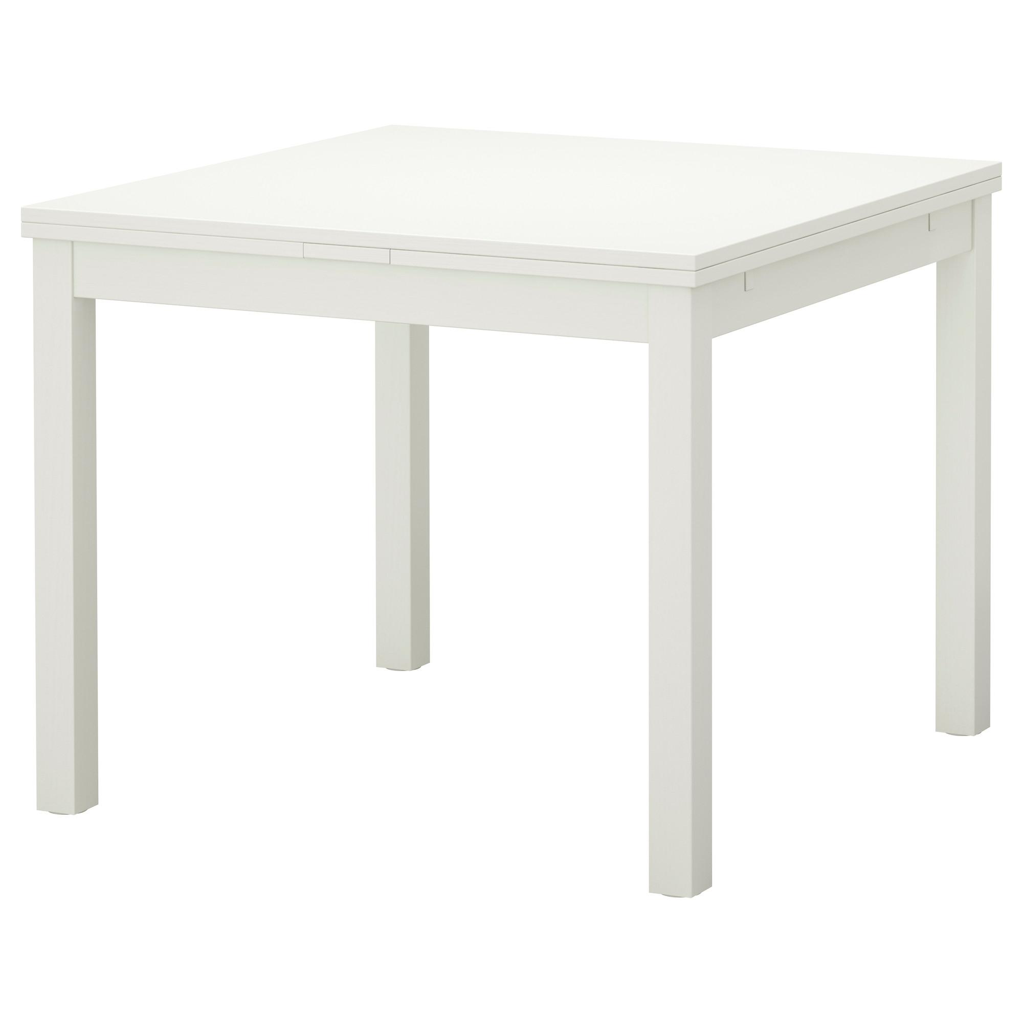 Bjursta mesa extensible 90 129 168x90 blanco for Mesa cocina extensible ikea