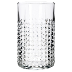 FRASERA Vaso de vidrio con relieve, 45cl