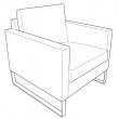 MELLBY Estructura de sillón
