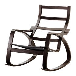 1 x POÄNG Estructura de mecedora negro-marrón