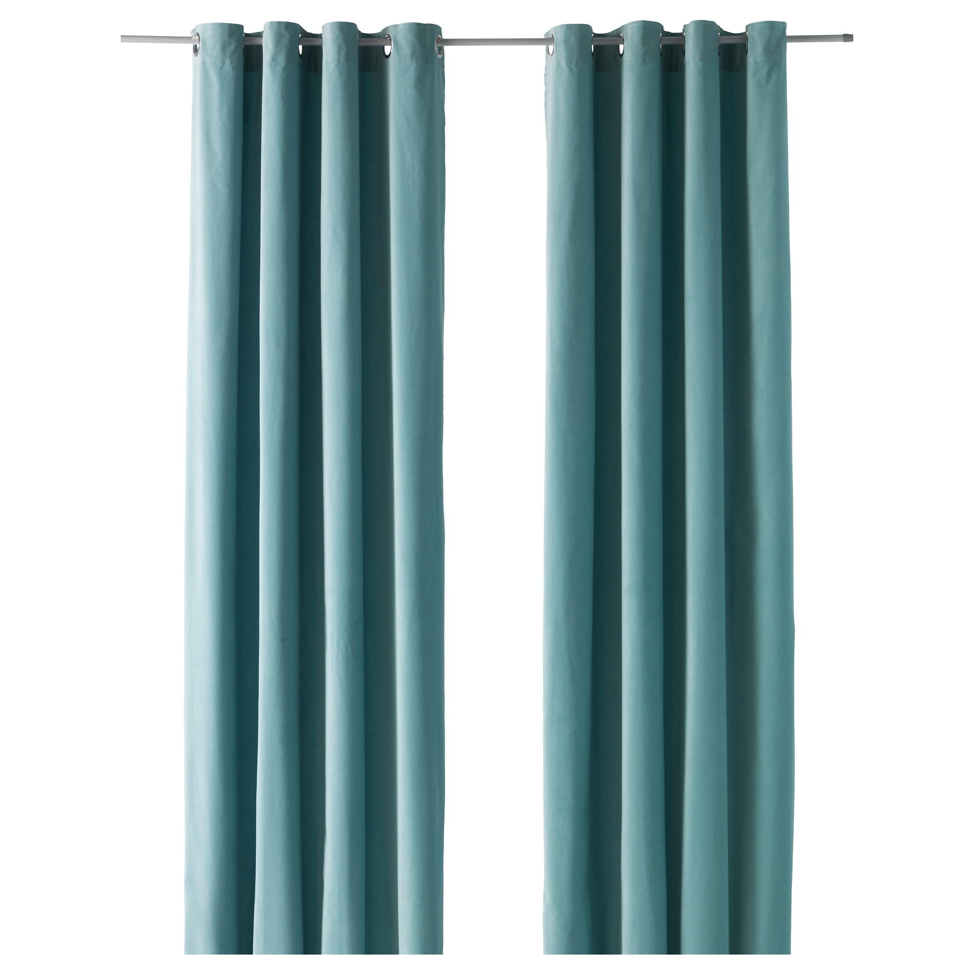 Sanela par de cortinas turquesa - Cortinas turquesa ...